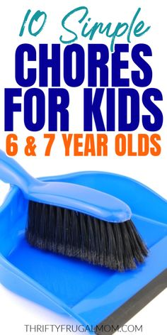 Need chore ideas? This list of household chores for kids is perfect for 6 and 7 year olds. The jobs are all simple enough that they should be able to do them on their own. Such a great way to teach them life skills and responsibility! Chores For Kids, Activities For Kids, Chore Ideas, Family Schedule, Age Appropriate Chores, Household Chores, Family Game Night, Baby Sister, 7 Year Olds
