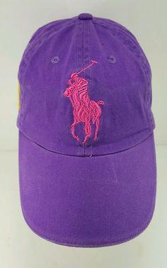 Polo Ralph Lauren Frangrances Strapback Hat Purple Big Pony in Clothing, Shoes & Accessories, Men's Accessories, Hats | eBay