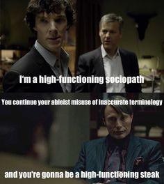 Fannibals vs ableist bbc Sherlock