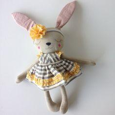 OOAK Bunny Girl Heirloom Doll by PeanutAndElliott on Etsy