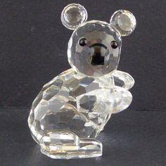Vtg Swarovski Koala Bear Figurine 7673 30 Facing Right Silver Crystal 1976-1988 #Swarovski
