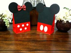 10 treat bags half Minnie mouse bags & half by PerfectPartyParade