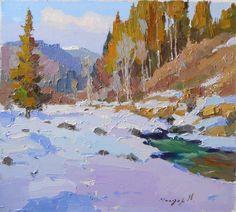 "Saatchi Art Artist: Shandor Alexander; Oil 2012 Painting ""warming"""