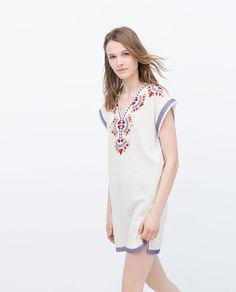 ZARA - PROMOCIJA - EMBROIDERED TUNIC 1490 Women s Mini Dresses, Cheap  Summer Dresses, Summer fe5cb2a55d