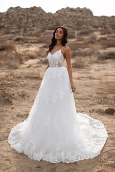 A&N Delilah - White Boho Bridal Gown with Lace Embellished Bodice – A&N Luxe Label How To Dress For A Wedding, Pretty Wedding Dresses, Nice Dresses, Tulle Gown, Beaded Gown, Lace Dress, Rose Lace, A Line Gown, White Lace