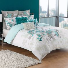Turquoise Room Ideas - Well, how regarding a touch of turquoise in your room? Set your heart to see it since this post will certainly give you turquoise room ideas. Living Room Turquoise, Bedroom Turquoise, Bedroom Wall Colors, Bedroom Green, Master Bedroom, Bed Sets, Bedroom Furniture, Bedroom Decor, Furniture