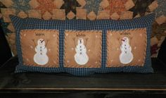 UNSTUFFED Snowman Pillow COVER Primitive Country Christmas Winter Seasonal Decoration Gift Idea Stitchery Home Decor Live Simply wvluckygirl on Etsy, $19.99