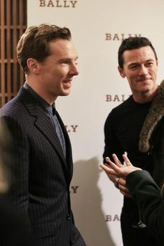 Benedict Cumberbatch & Luke Evans at Bally store opening in London on October 22, 2014.