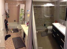 Nice Girls Rule Nice Girl Small Budget Bathroom Remodel Before - Small bathroom renovation price
