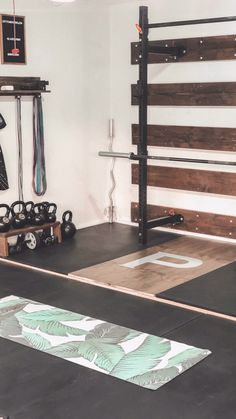 Garage Gym Ideas: the Ultimate Gym Tour to Inspire Your Own Home Gym Sponsored Sponsored Space for a garage gym was a must for us when we were house shopping. We actually loved our little garage gym in our old… Continue Reading → Garage House, Home Gym Garage, Diy Home Gym, Gym Room At Home, Home Gym Decor, Basement Gym, Best Home Gym, At Home Crossfit Gym, Gym In House