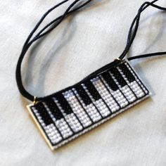 Cross Stitch Piano Necklace by agorby00.deviantart.com on @DeviantArt