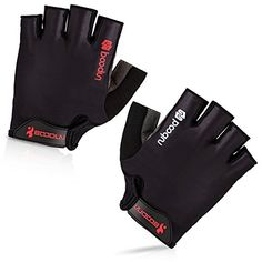 BOODUN Cycling Gloves with Shock-absorbing Foam Pad Breathable Half Finger Bicycle Riding Gloves Bike Gloves B-001, Simple Black, Small Find out more about the great product at the image link.