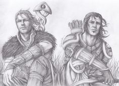 The two reluctant Grey Wardens Anders and Nathaniel take in the breeze. Dragon Age Awakening ~Anders And Nathaniel by SweetCandyRain on deviantART