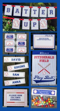 Baseball Invitation & Printable Birthday Party Collection - available as an Instant Download!
