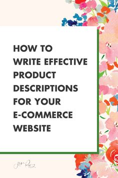 How to write product descriptions that sell for your e-commerce website. In this episode I want to give you tips on how to use SEO and keyword research to improve the chances of your listings showing up in search results. #seo #marketing Creating A Business Plan, Business Planning, Business Articles, Business Tips, Seo Marketing, Business Marketing, Blurb Book, Selling Art Online