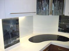 kitchen glass splashback with HQ digital printing directly on glasspanel Splashback, Glass Kitchen, Digital Prints, Kitchen, Glass, Bathtub, Prints
