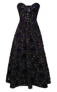 Metallic-Jacquard Dress by Rochas Now Available on Moda Operandi