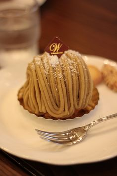 Japanese Mont Blanc cake. Love it!