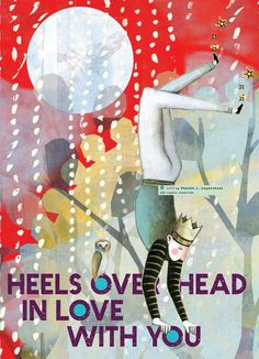 198 Heels Over Head CARD 5x7 by PamelaZagarenski on Etsy