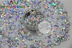 TCA100 Holographic Mylar Sheet Random Cut Size Flakes for nail decoration and other art DIY decoration