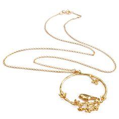 Alex Monroe bird hoop necklace
