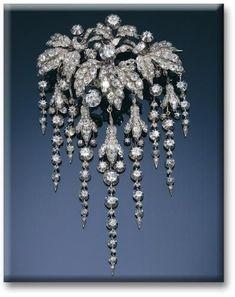 Diamond Brooch art Deco