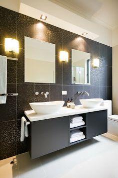 this sort of vanity in bathroom but in white
