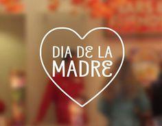 . Un escaparate para el Día de la Madre con vinilos adhesivos 04324 Marketing, Heaven, Calm, Artwork, Frases, Happy Mothers Day, Shop Displays, One Day, Vinyls