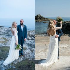 Sexy Backless V-neck Lace Long Sleeve Boho Beach Wedding Dresses Hippie Bohemian Wedding Gowns