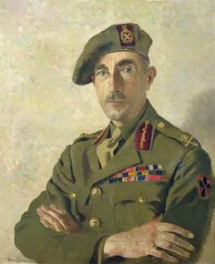 Portrait of Major General E. Phillips, 1945 by Doris Zinkeisen (Scottish 1898 – 1991)