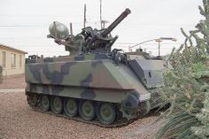 M163 Vulcan A.D.A.(air defense artillery). Heard one of these range fire when I was in the Army, 5 sec. burst sounds like a swarm of very angry, very loud hornets