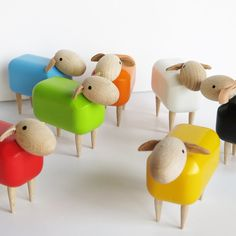 Multi-coloured Mini Sheep