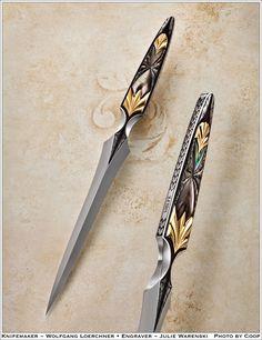 Wolfgang Loerchner Dagger - Engraved by Julie Warenski