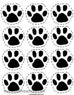 Going on a Bear Hunt Picnic Paw Print Pattern I Nuttin but Preschool