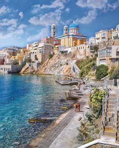 Hermoupolis, Kikladhes, Greece - Travel Tips Romantic Destinations, Vacation Destinations, Dream Vacations, Vacation Spots, Greece Destinations, Romantic Vacations, Romantic Travel, Places To Travel, Places To See