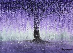 ARTFINDER: Wisteria Dream by Kume Bryant - Wisteria Dream  Amazing trees, breathtaking flowers, painting them is a joy always.  Painted on stretched canvas. Satin finish varnish applied to protec...