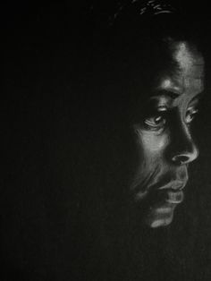 White Charcoal Pencil Portrait
