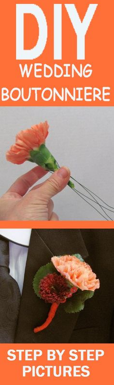How to Make Wedding Boutonnieres- Step by Step Flower Tutorials  Learn how to make corsages and boutonnieres.