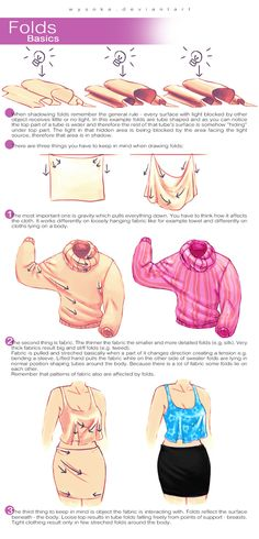 How To Draw Folds by wysoka.deviantart.com on @DeviantArt