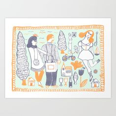 Travel Art Print by Kathryn Twirls. Worldwide shipping available at Society6.com. Just one of millions of high quality products available.