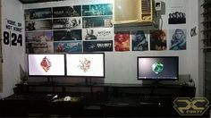 @jaohallen sent in his double setup which looks super clean and super awesome...  Love those posters above from all those games... Brilliant man!  Left build specs: • Intel Core i5-4460 • MSI B85M • 8GB Kingston HyperX • MSI GeForce GTX 950 Right build specs: • Intel Core i3-6100 • MSI B8150M NightElf • 8GB DDR4 Crucial • Zotac GeForce GTX 750Ti One more right after this one...  ••••••••••••••••••••••••••••••••••••••••••••••• Follow my friend for awesome builds: @pcmodbuilds Follow ...