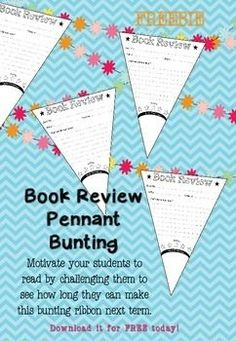 FREE! Book Review Pennant Bunting!  Students can use this to find book recommendations! You can also challenge your class to see how long their bunting can become in a certain term.