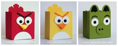 Julie's Stamping Spot -- Stampin' Up! Project Ideas Posted Daily: Angry Birds Fancy Favor Boxes