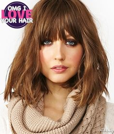 Oh My God I Love Your Hair: Choppy Bob With Blunt Bangs - The Frisky
