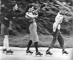 1940's | vintage split skirt / pants | 40s skating outfits
