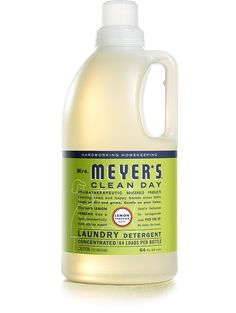 Environmentally friendly laundry detergent that is HE compatible, Mrs. Meyer's Clean Day Lemon Verbena 64 Load Laundry Detergent liquid is one of our hardest working laundry soaps.