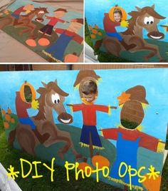 DIY photo ops headless horseman buckaroo, plywood, craft paint, and simple stand