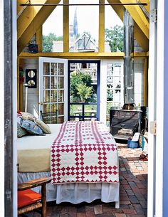 A not so real-world bedroom that is real!  http://www.bayoubohemian.com/2010/06/backyard-retreat.html