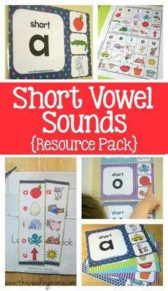 Short Vowel Sounds Resource Pack ~ wall charts, bookmarks,and spelling charts for short vowel sounds | This Reading Mama