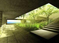 Alberto Kalach Space Architecture, Minimal Architecture, Residential Architecture, Amazing Architecture, Contemporary Architecture, Landscape Design, Design Oriental, Atrium, Courtyards